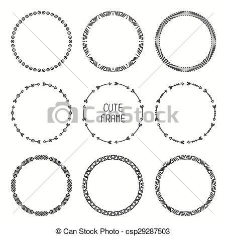 Frame clipart tribal Ethnic of arrows arrows style