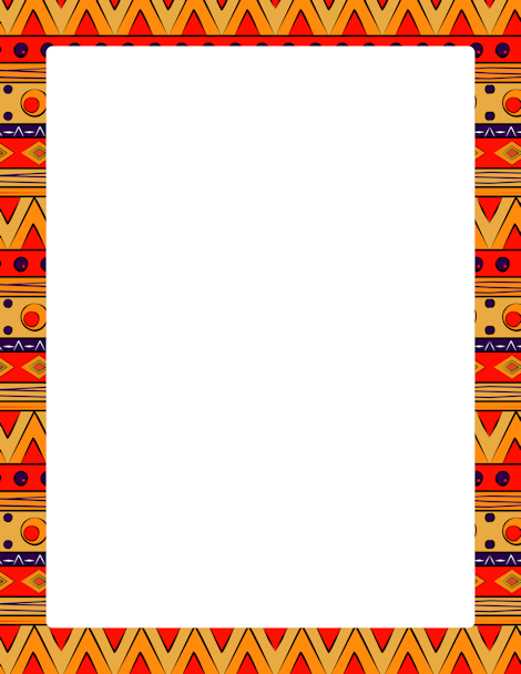 Africa clipart african tribe Free featuring border tribal downloads