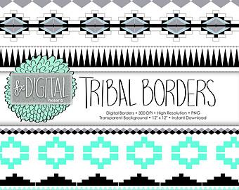Frame clipart tribal Photo Clipart Borders Border Tribal