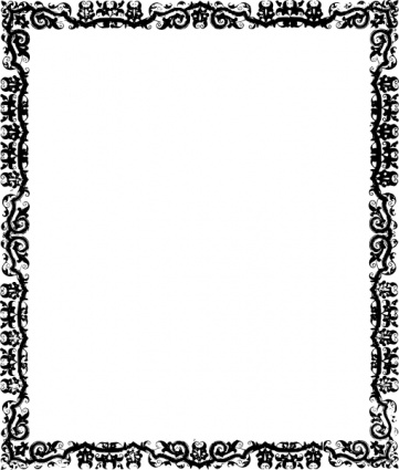 Frame clipart tribal Library Black Borders Art And