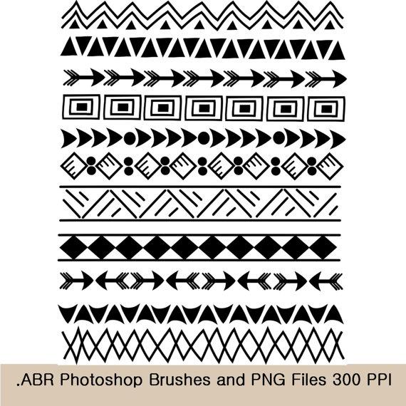 Frame clipart tribal Tribal art 8 borders 8