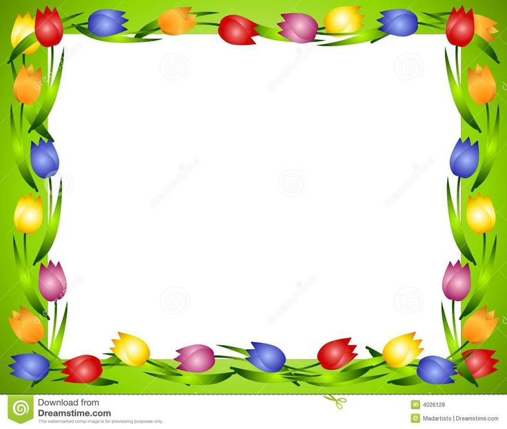 Frame clipart tulip Flower Stock Kaders Photos Free
