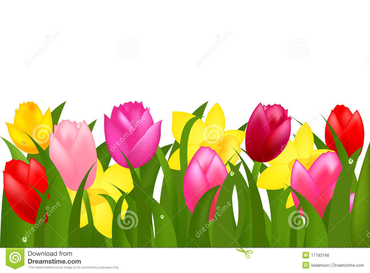 Frame clipart tulip Tulips Tulips Spring Clipart cliparts