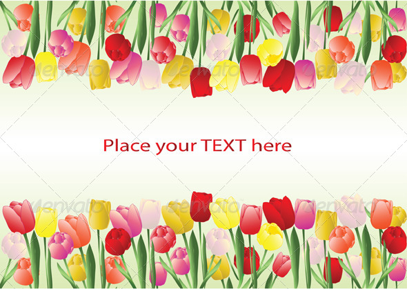 Frame clipart tulip Borders GraphicRiver by Frame Frame