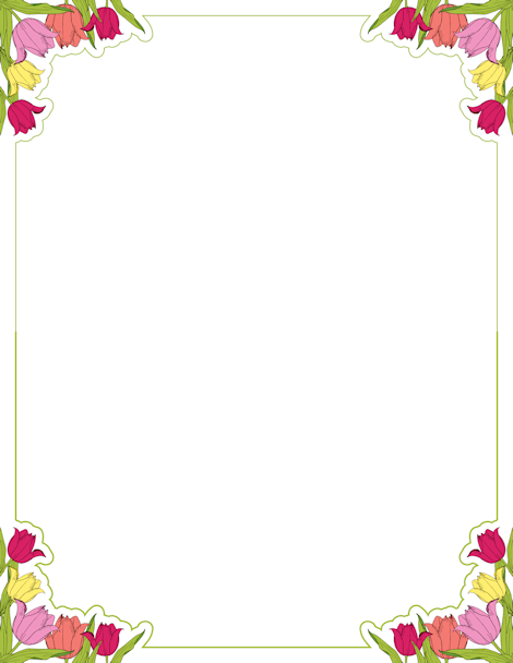 Frame clipart tulip At at GIF downloads and