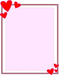 Letter clipart piece paper Borders Paper and documents Valentine