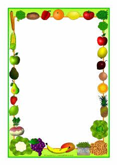 Vegetable clipart border Page org and downloads A4