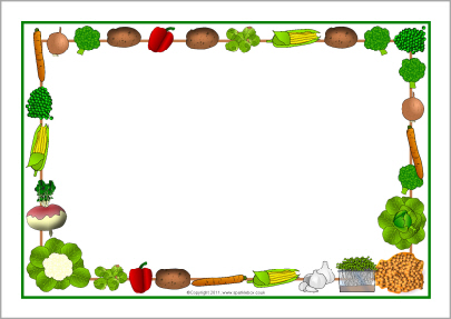Vegetable clipart border More! Page  and Borders