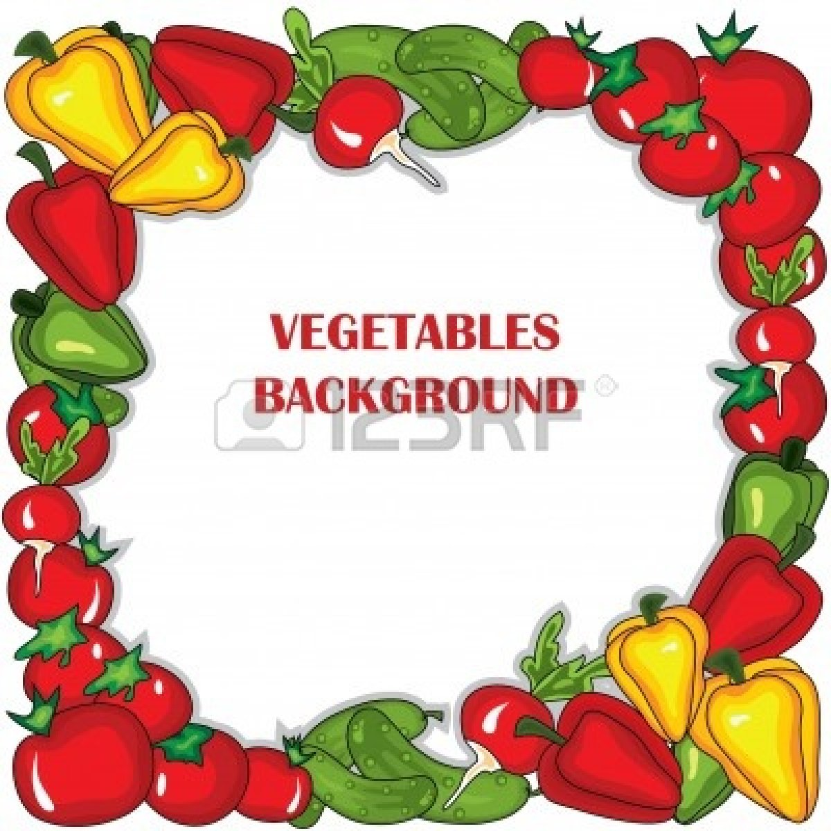 Background clipart vegetable garden #9