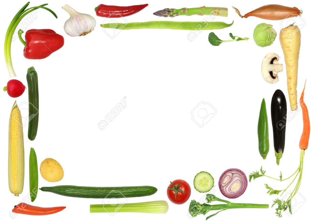 Vegetable clipart border Border Selection com Abstract Forming