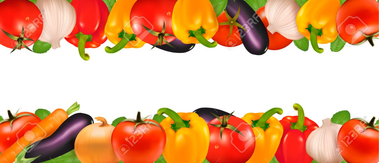 Vegetable clipart border Vegetable Vegetable  6 border