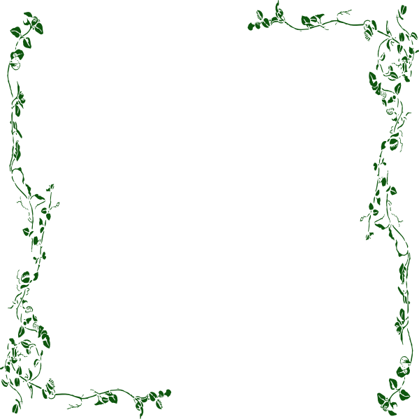 Elegance  clipart vine leaves Border Green art Green