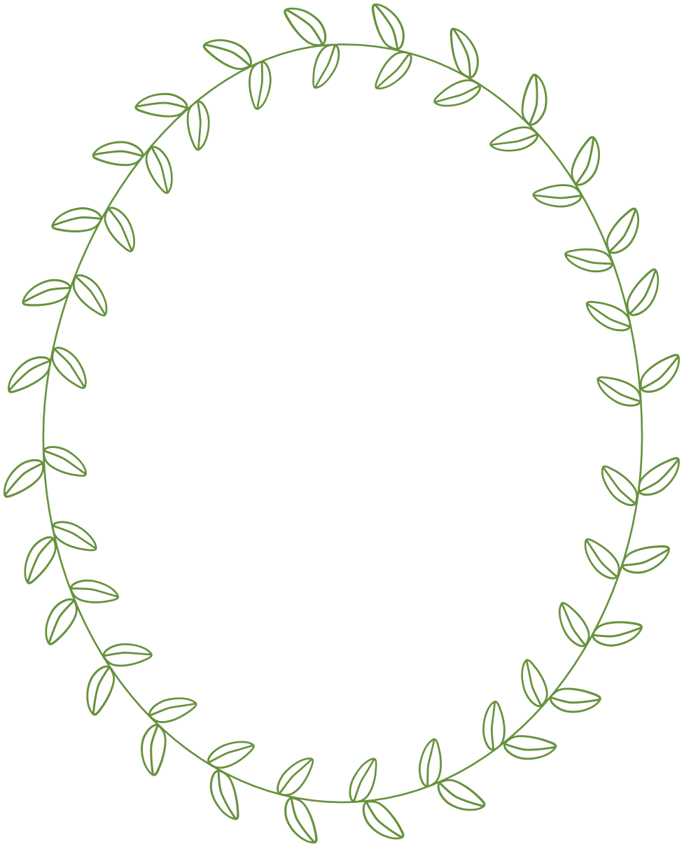 Leaves clipart circle #8