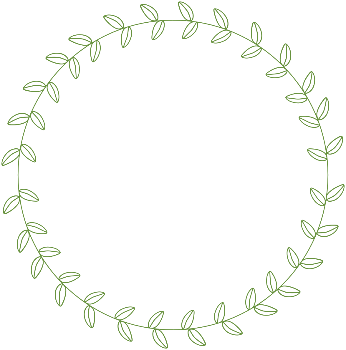 Leaves clipart circle #5