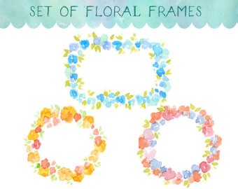 Frame clipart watercolor Watercolor Frame Wreath Frame Watercolour