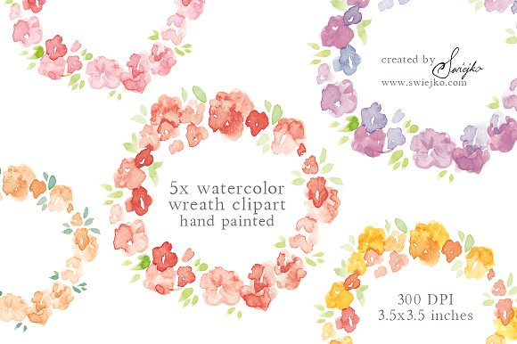 Frame clipart watercolor Frame ~ Watercolor Illustrations Market
