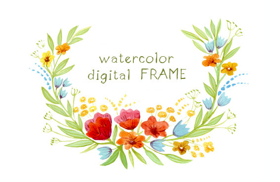 Frame clipart watercolor To Floral Clipart Items Items
