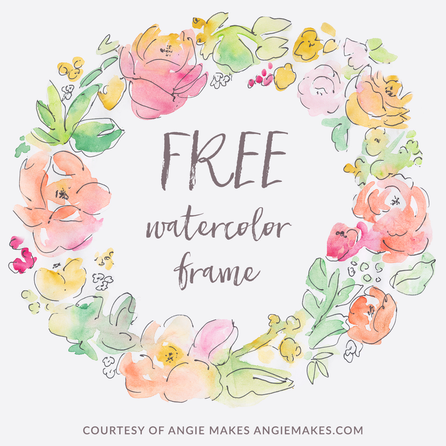 Frame clipart watercolor Flower Frame Free Frame ideas