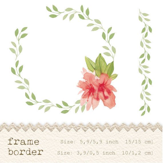 Frame clipart watercolor Watercolor Watercolor  flower Google