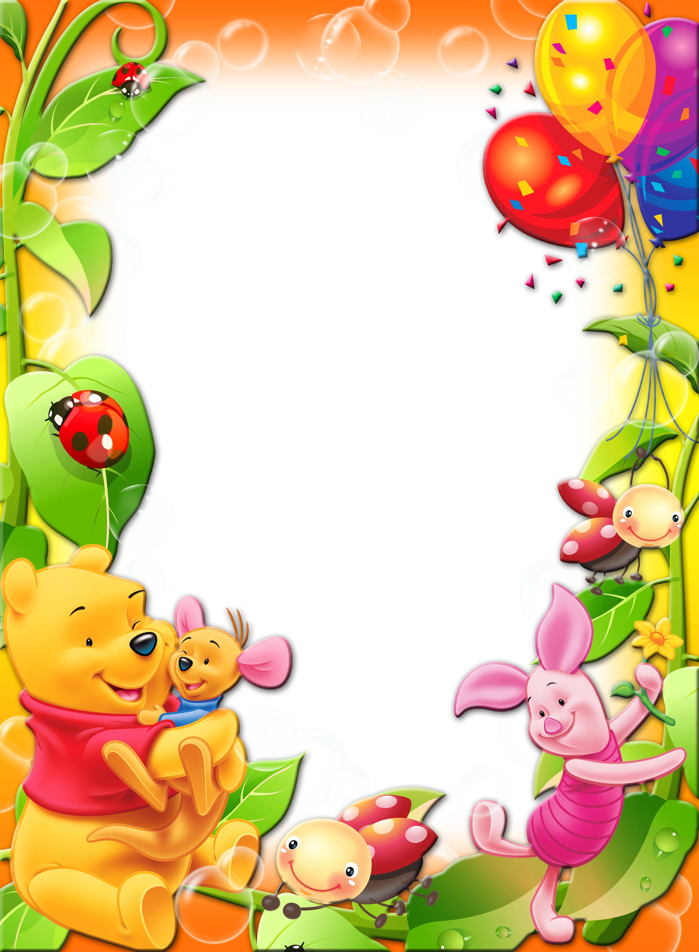Frame clipart winnie the pooh The Transparent Winnie size Photo