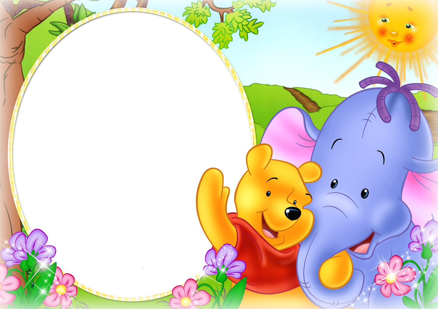 Frame clipart winnie the pooh Photo PNG Cute size