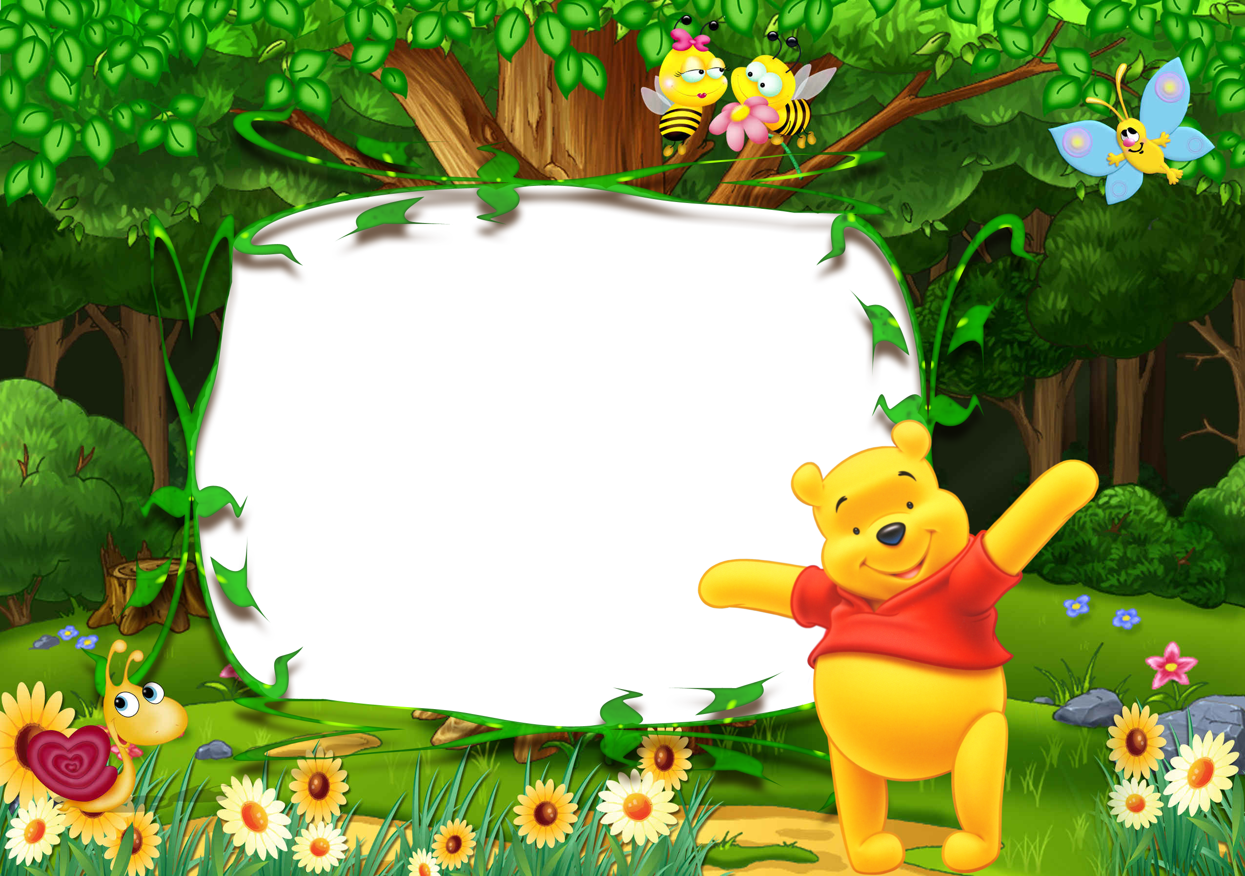 Frame clipart winnie the pooh The Frame Winnie size