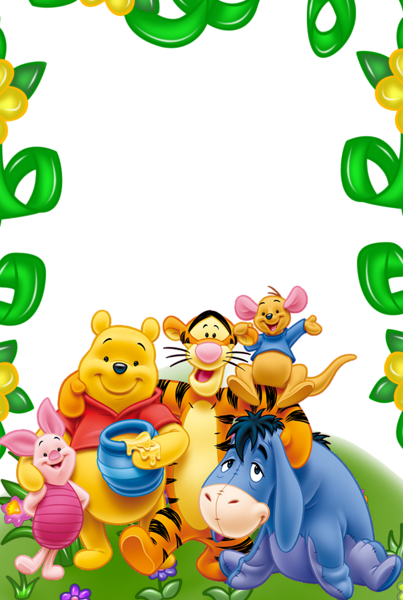 Frame clipart winnie the pooh Frame Friends the ΠΕΡΙΓΡΑΜΜΑΤΑ and