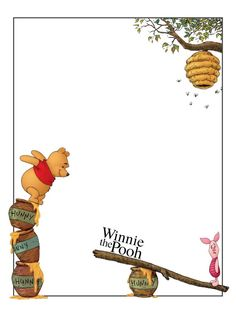 Frame clipart winnie the pooh Frames  Cute on Photo
