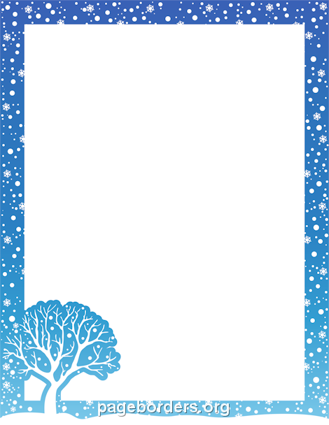 Frame clipart winter Christmas Tree christmas Border
