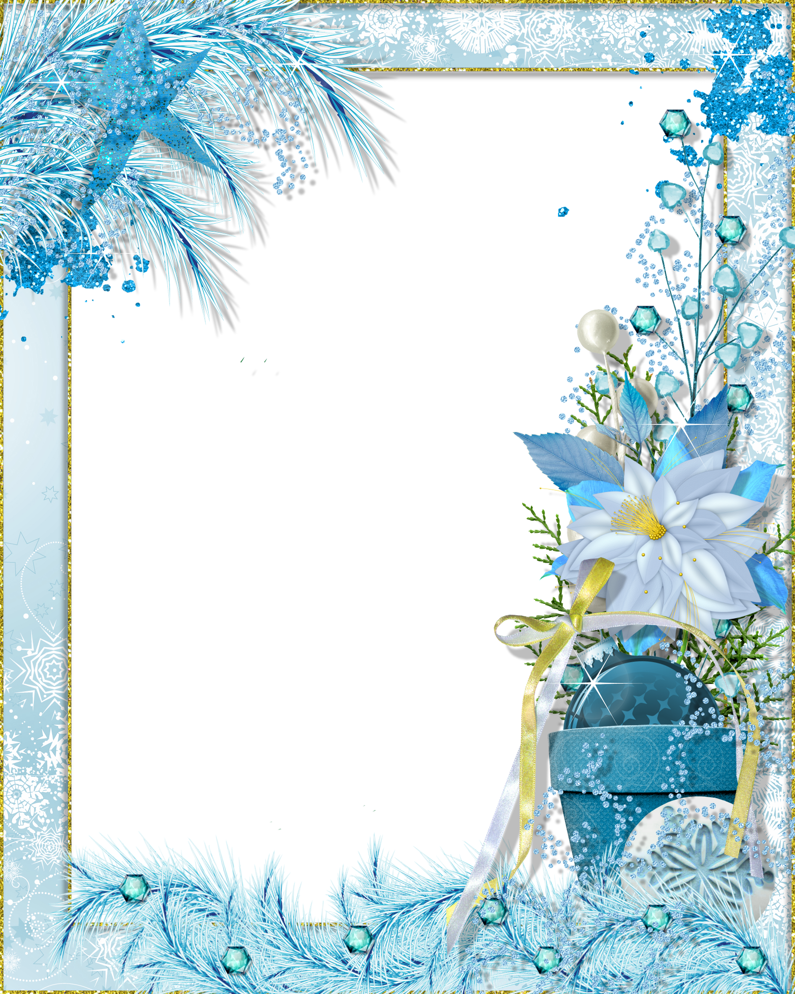 Winter clipart frame Fantasy PNG Winter Photo PNG