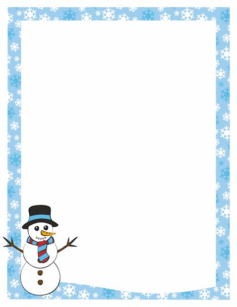 Winter clipart boarder Free Graphics at Art A