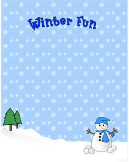 Winter clipart frame Year fancy Free Page Fun