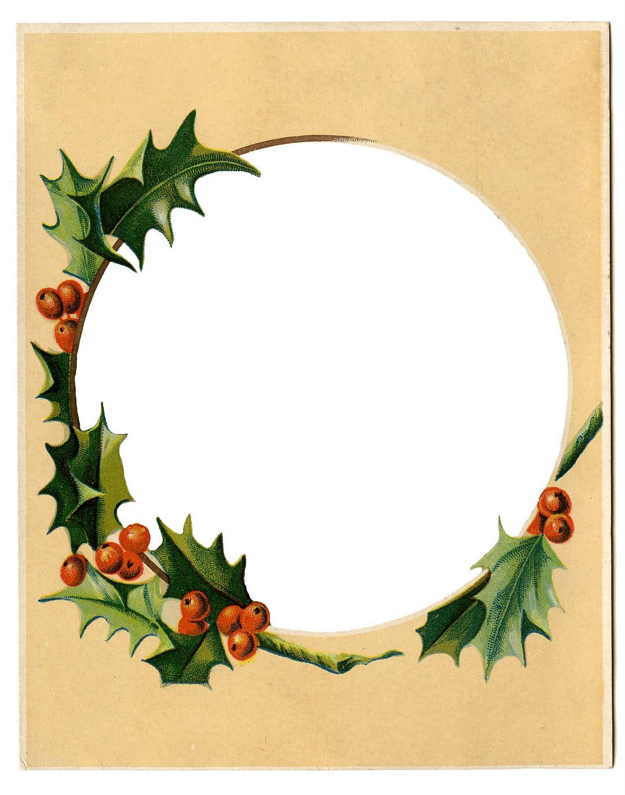 Wreath clipart victorian Clip Vintage  Art Holly