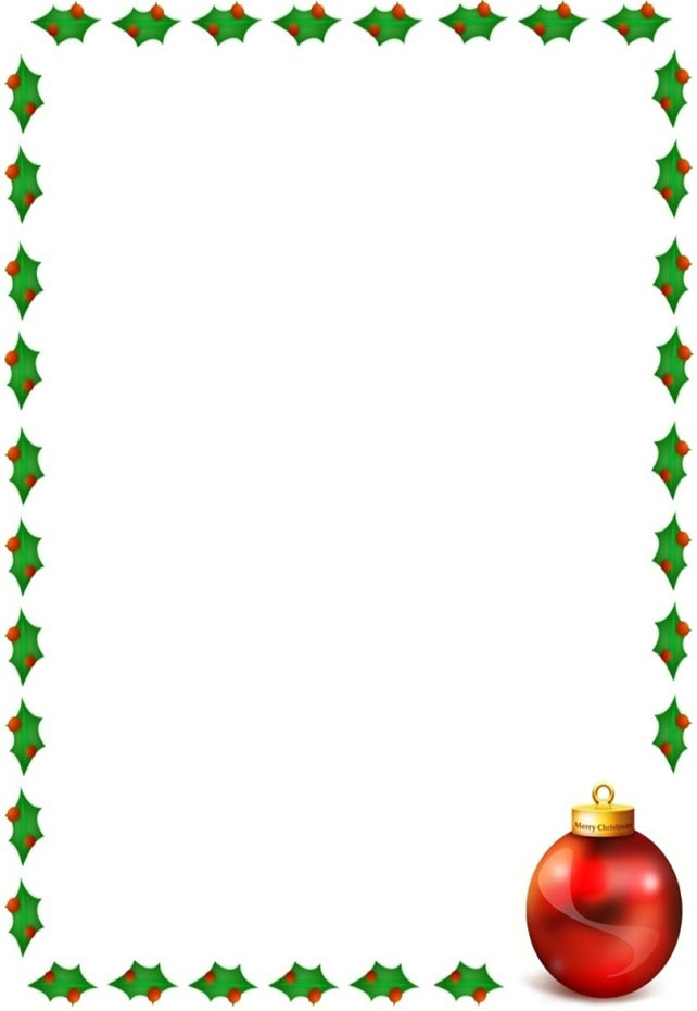 Holley clipart border A Borders border Christmas with