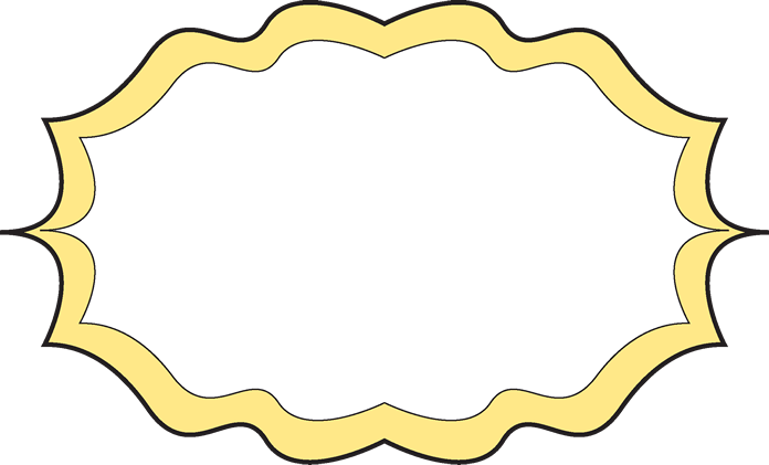Fun clipart picture frame Fancy Clip Fancy Yellow Free