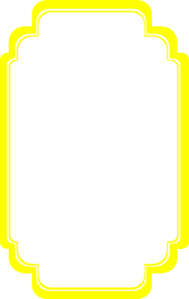 Frame clipart yellow Curvy Curvy Art  vector