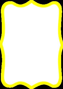 Frame clipart yellow Clip Frame Clker art Art