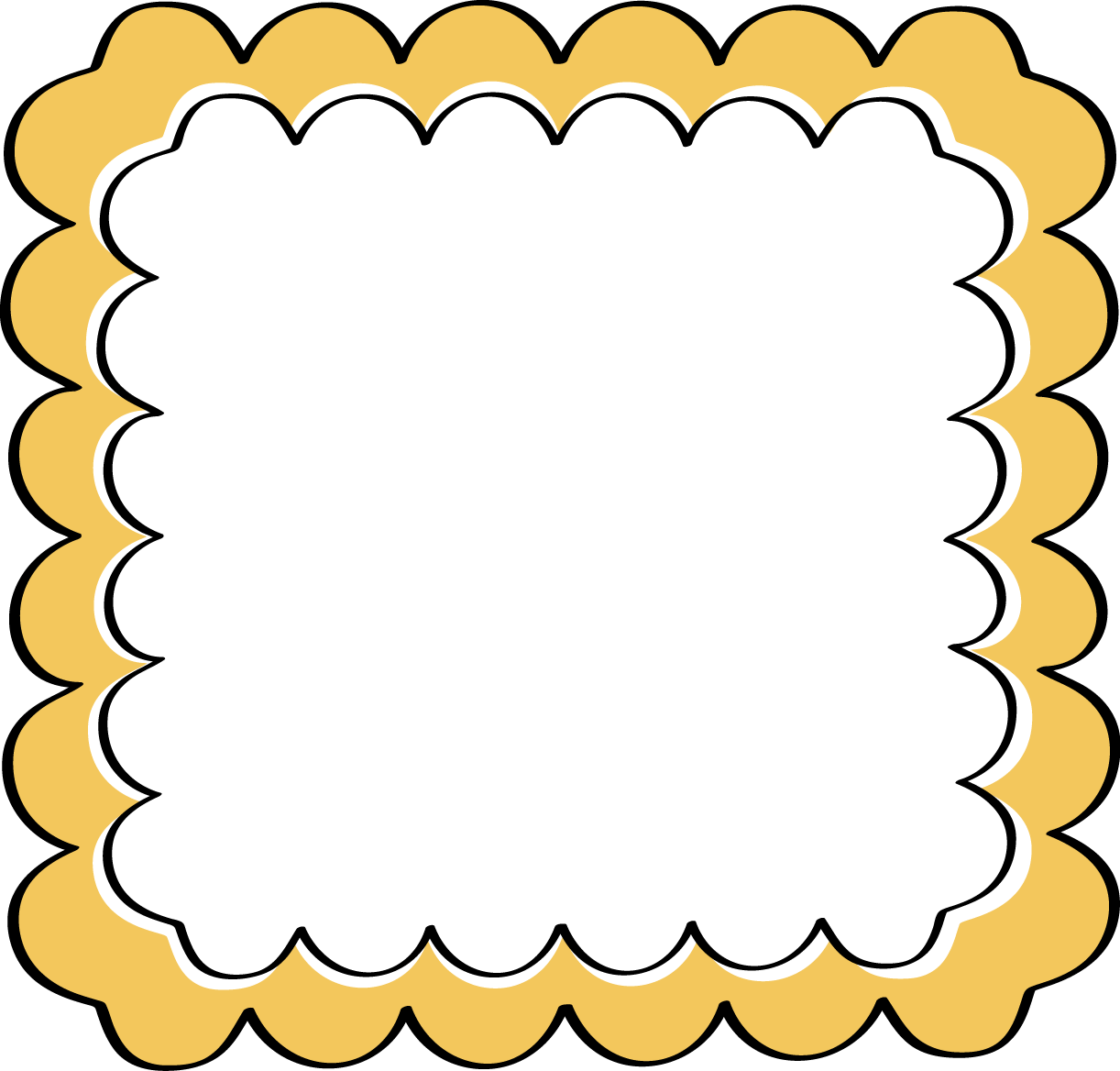 Frame clipart yellow Free Scalloped Frames Clip Yellow