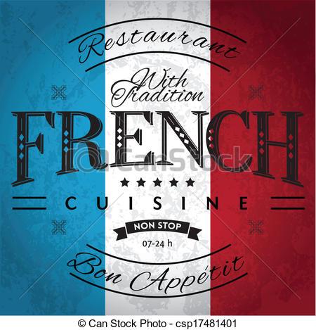 Restaurant clipart french restaurant Free Art French  Flag