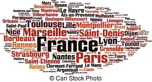 Word clipart french Of Cities cities showing in