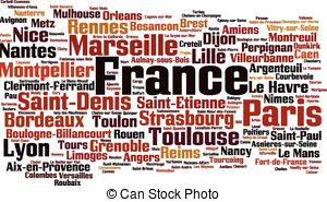 Word clipart french Of  csp18803432 cloud Search