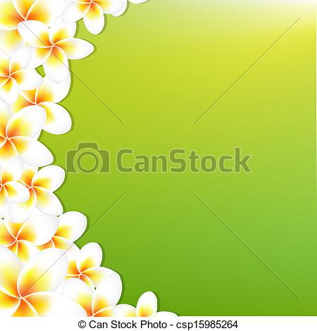 Frangipani clipart border Clipart Flowers Vector Illustration Vector