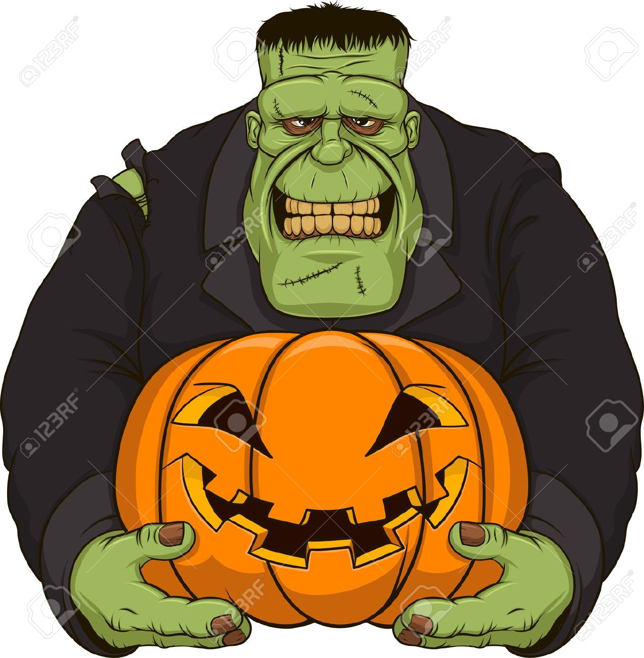 Frankenstein clipart cartoon Frankenstein com #22466 Best Clipartion