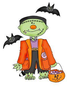 Costume clipart halloween ghost Clipartix set art cute Frankenstein