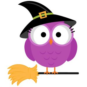 Witch Hat clipart cute owl Svgs silhouette Witch images scrapbook