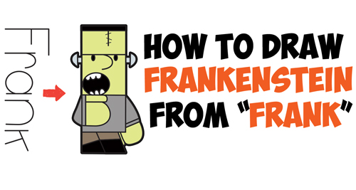 Frankenstein clipart easy Easy How Draw by Cartoon