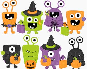 Monster clipart st patricks day Commercial clip Faces Halloween art