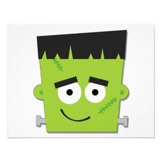Frankenstein clipart head Cute frankenstein  head clipart