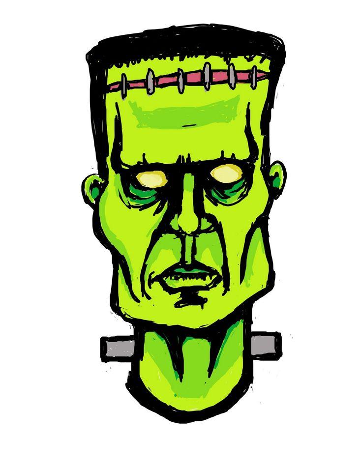 Frankenstein clipart head 50 Pinterest best frankenstein on