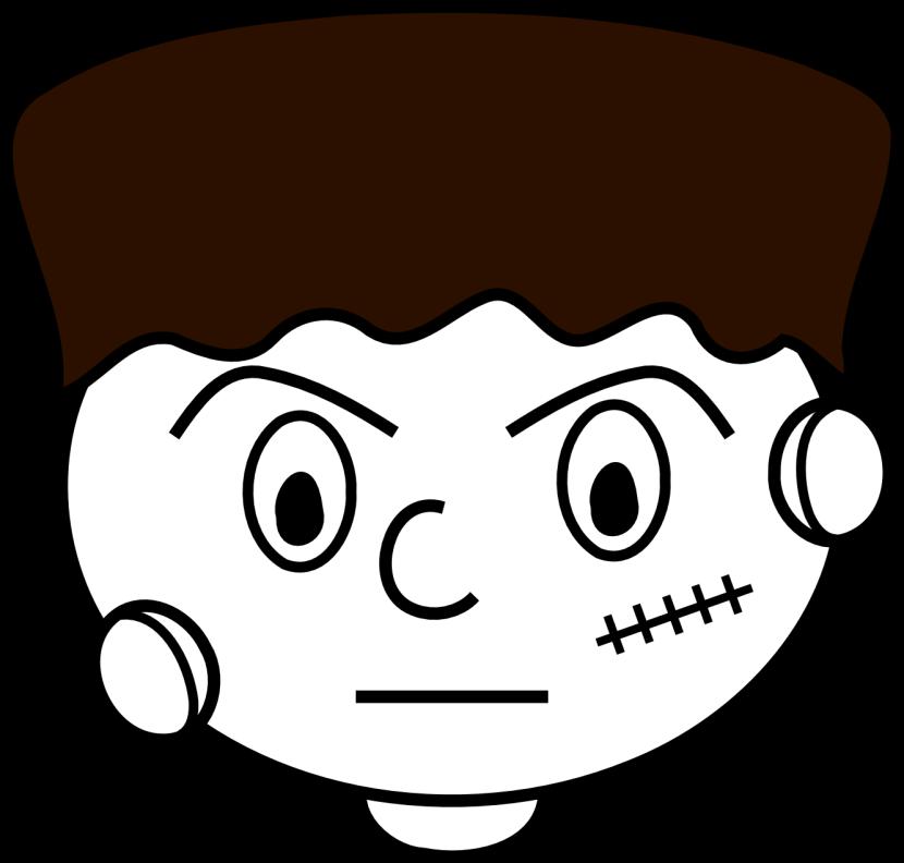 Frankenstein clipart head Cartoon com Face Frankenstein Clipartion